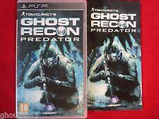 GHOST RECON PREDATOR PLAYSTATION PORTABLE TOM CLANCY'S GHOST RECON PREDATOR PSP