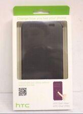 Genuine HTC One M8 Dot View Case Cover M100  - Warm Black/Grey 99H11416-00