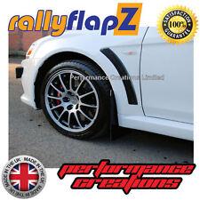 Rally style Mudflaps Mitsubishi Evo 10 Qty 4 Mud Flaps Black Kaylan PU (No Logo)