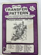 """Pretty Punch Hot Iron Transfer Pattern #2089 A&B Deer 15"""" x 20"""" Color Coded"""