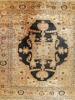 Palace Vegetable Dye Oriental Heriz Large Rug WOOL Hand-Knotted Carpet 17x19
