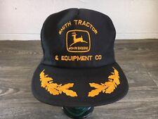 John Deere Snapback Hat 80s Vtg Trucker Mesh USA Tractor Rare Louisville