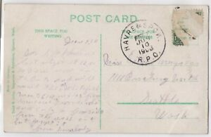 1908 Havre and Spokane RPO Cancel to Seattle Washington Railroad Postal Cover