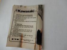 Kawasaki GPZ750R GPZ 900R u.a. Gabelaufkleber schwarz Einzelschrift auf chrom