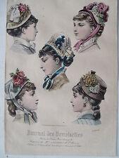 1i68 Gravure de mode 1879 journal des demoiselles