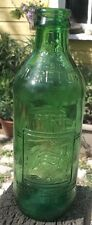 VINTAGE NO DEPOSIT NO RETURN GREEN EMBOSSED 7UP THROWAWAY BOTTLE 10 FL. OZ.