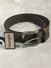 "Wrangler Geniune Leather Basic Stitched Belt in Brown,Size  XXXL(46"")"