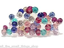 5 10 or 20 Colour Crystal Rhinestone Hair Bobby Pins Bride Bridesmaid Ball Prom