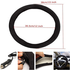 15inch 12V Auto Car Lighter Charger Plug Heated Heating Steering Wheel Covers