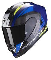Casco Moto Scorpion Exo R1 air Halley SUZUKI GSX Nero Blu Giallo Fluo taglia S