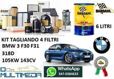 KIT TAGLIANDO FILTRI OLIO BARDAHL BMW SERIE 3 318 D F30 F31 105KW 143 CAVALLI