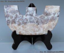 China Folk Natural Old Stone Jade Carving Han Chu Dynasty Culture Bi Token