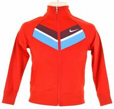 NIKE Boys Tracksuit Top Jacket 8-9 Years Small Red Polyester  JS05