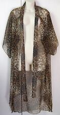 Chiffon Animal print Tie neck 3/4 sleeve WRAP Throw 14 #Sunday Market
