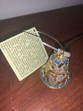 Vintage Cloisonne Enamel Floral Design Candle Snuffer