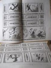 Vintage Print,INTERIOR DECORATIVE PANELS,2 Sheets,18th Century