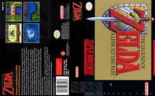 Zelda A Link To The Past SNES Box Art Case Insert Cover For Universal Game Case