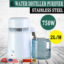 4L Home Countertop Stainless Steel Interior Water Distiller Purifier Machine