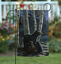 New Toland - Bear Picnic - Outdoors Nature Grizzly Birch Forest Garden Flag