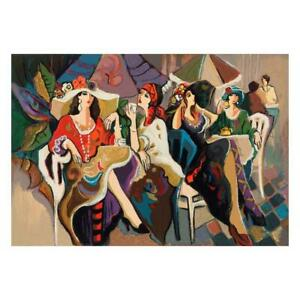 """Isaac Maimon """"Cafe Parasol"""" Signed Limited Edition Serigraph on Paper"""