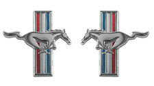 NEW 1965-1966 Ford Mustang Running Horse Emblems Tri Bar Fender Emblems Pair
