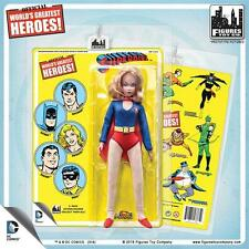 DC Comics 8 Inch SuperGirl Figure With retro styled Cards: mip  retired