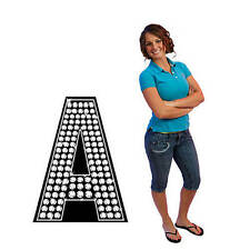 Diamond Letter Standees!Choose Letter & background A Thru Z Cardboard Cutout