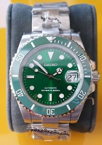 Custom Green Hulk Mod with Seiko NH35 movement