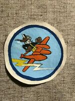 WWII US Army Air Force Fighter squadron patch P-38 Bear