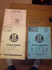 Massey-Harris PACER TRACTOR SHOP SERVICE~REPAIR~FLAT RATE Manual I&T LOT~PACER