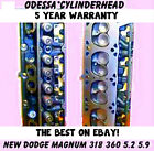 New 2 Dodge Magnum 5.2 5.9 Ohv 318360 Cylinder Heads 92-04 New Parts No Core