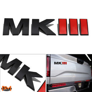 """MKIII"" Metal 3D Decal Black&Red Emblem Exterior Sticker For Aston Martin"