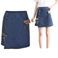 Women's Fashion Waist Skirt Korean Style Girls Cowboy Mini Denim Short Skirt