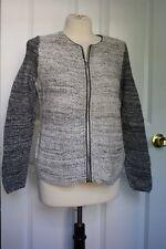 Talbots L Petite Textured Knit Full Zip Blazer Cardigan LP