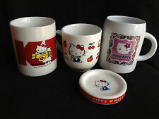 3 Sanrio Hello Kitty MUGS from Japan-ship free