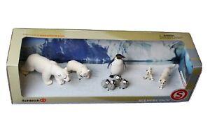 Schleich Arctic Animals Scenery Pack 41265 Polar Bear, Fox & Penguin Families