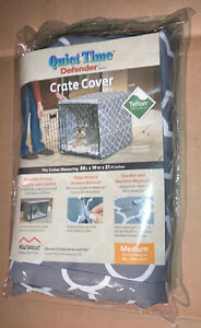 """NEW Midwest Quiet Time Defender Gray Crate Cover for Dogs, 30""""L X 19""""W X 21""""H"""