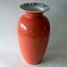 Large Hornsea Pottery vase Paysanne/Flowers range '80s vintage terracotta nice