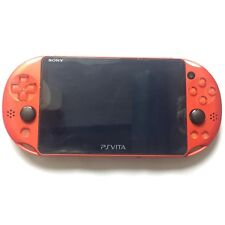 Used PlayStation PS Vita PCH-2000 ZA26 Metallic Red Wi-Fi Console Sony Japan F/S