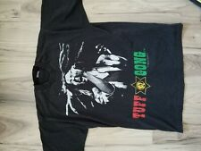Vintage Bob Marley Graphic T-Shirt Black Size Xl Single Stitch