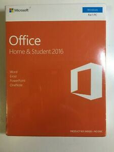 Microsoft Office Home & Student 2016 32/64 Bit New Retail Box 79G-04597