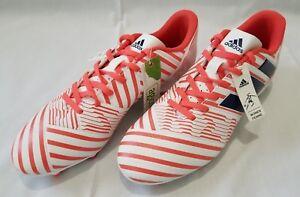 Womens Size 8 White Coral Adidas Nemeziz 17.4 FG Soccer Cleats BY8886