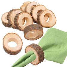 12PCS Wooden Napkin Serviette Rings Holders for Wedding Party Dinner Decor