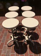 6 Same Vtg. Adjusto Equiptment Co. Adjustable Stools - 18.5� To 25� - 13� Seats