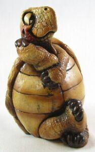 "Beasties of the Kingdom 6"" Tipsy Turtle Figurine Sculpture, John Raya, Rare!"