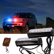 Red/Blue White Police Dash Emergency Light Bar Wireless Warning Flashing Lights