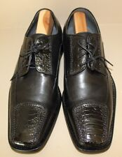 David Eden Mens Shoe Size 9.5 Genuine Ostrich & Leather Lace Up Oxfords JOES