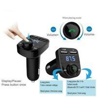 Drahtloser Bluetooth-Freisprech-Auto-FM-Sender MP3-Player USB-Ladegerät