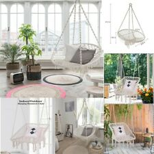 Cotton Fabric Hanging Rope Hammock Chair Swing Round Square Chair Swing Indoor