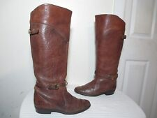 FRYE WOMEN'S BROWN LEATHER RIDING BOOTS MADE IN SPAIN SZ 7½ M